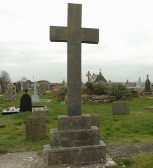 The famine memorial cross at the old Shanakyle graveyard in Kilrush. Photograph by John Kelly