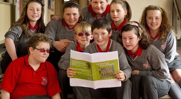 Clockwise from top left: Nadine Mooney, Suzie Moroney, Jamie Doherty, Siofra McInerney, Grace Byrnes, Saoirse Boyce, Donncha Madigan, Jake Cantwell and Jack Byrne, joint authors of Dyslexic Brains Learn Differently, pictured during the launch of the book at Ennis National School. Photograph by Declan Monaghan