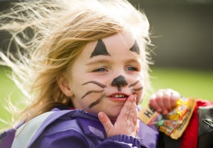 Local girl Niamh Cassidy got her face painted at the Clare Shout Festival Field day in Kilkishen. Photograph by John Kelly.