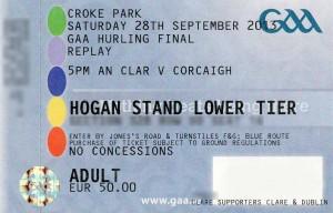 All Ireland hurling ticket