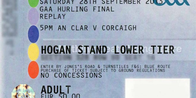 All Ireland hurling ticket