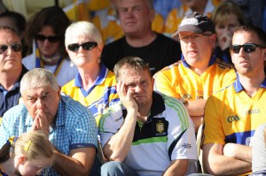 Clare senior manager Davy Fitzgerald in the stand before the  All-Ireland U-21 hurling final at Thurles. Photograph by John Kelly