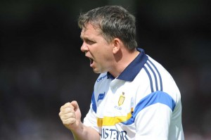 Clare manager Davy Fitzgerald before their All-Ireland quarter final against Galway at Thurles. Photograph by John Kelly.