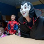 Count Dracula greeted the Ennis National School Senior Infants to The Clare Champion offices