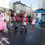 Senior Infants make their way through the streets of Ennis during the Hallowe'en Hobble