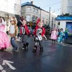 Senior Infants make their way through the streets of Ennis during the Hallowe'en Hobble