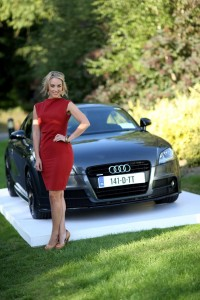 Audi brand ambassador, Kathryn Thomas, launching Future Now