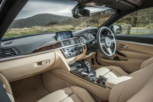 The interior of the 4 series oozes class.