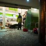 Vehicles crash into shops in two separate incidents
