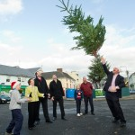 Christmas tree throwing for charity
