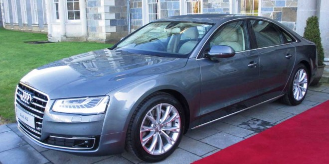 The Audi A8 at the launch at Carton House