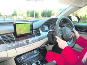 The impressive interior of the new Audi A8