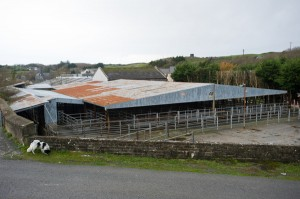 A general view of the mart site at Ennistymon. Photograph by John Kelly.