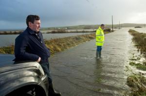 Flooding at Kilcredaun, Carrigaholt