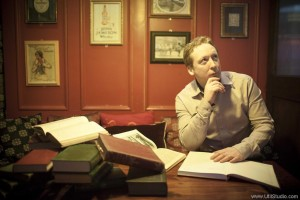 Donal Minihane, general manager of Hotel Doolin, catches up on some reading ahead of Doolin Writer's Weekend. Photograph by David Olsthoorn