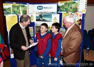Arthur Byrne, Patrick Scanlan, Tadhg Collins, Billy Nutley at the Keep Safe Day