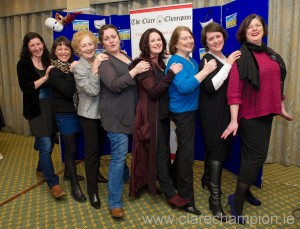 Members of Ennis Players at the launch of  Calendar Girls, in aid of four local charities. Photograph by John Kelly.