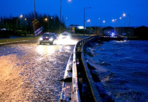 Flooding on the main road into Shannon