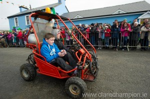 Carting about at the St Patrick's Day Parade at Fanore. Photograph by John Kelly.