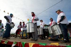Percussion to the forefront at the St Patrick's Day Parade at Fanore. Photograph by John Kelly.