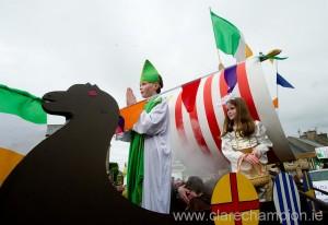 Edward McInerney as St Patrick during the St Patrick's Day Parade at Killaloe. Photograph by John Kelly.