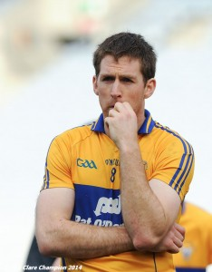 A dissapointed Clare captain Gary Brennan following the Division 4 League final against Tipperary in Croke Park. Photograph by John Kelly.