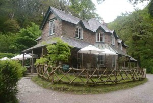 The delightful tearooms at Watersmeet, near Lynmouth.