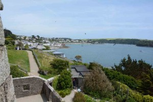 The view from St Mawes castle.