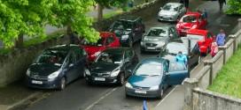 One-way traffic at Ennis school