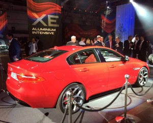 "The new S model of the Jaguar XE. This one has 20"" wheels."