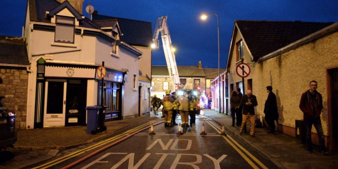 Emergency services respond to Ennis fire