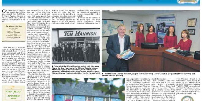 Tom Mannion Travel Feature
