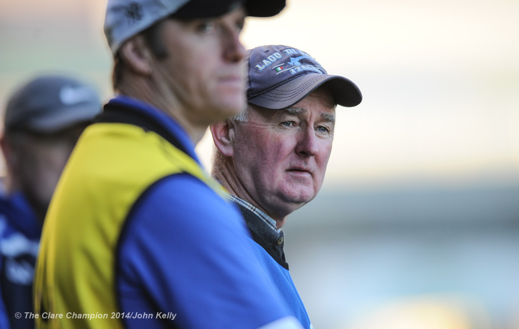 Cratloe manager Joe Mc Grath on the sideline against Kilmallock during their Munster Club final at The Gaelic Grounds. Photograph by John Kelly.