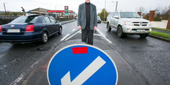 Breen sees red at traffic calming island