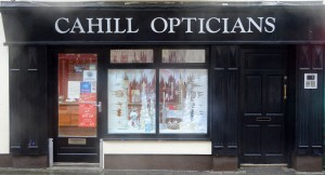 Cahill Opticians, joint second in the Frozen window competition. Photograph by John Kelly