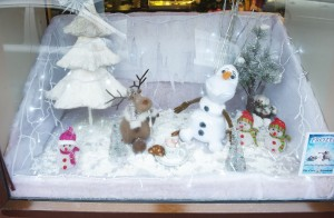 A prize winning entry in the Clare Champion Christmas Frozen window display competition. Photograph by John Kelly.