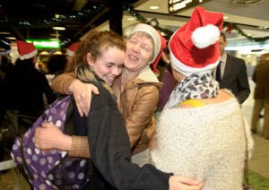 Local woman Joan Harney welcoming her sister, Romy Ryan home from New Zealand s at Shannon Airport. Photograph by John Kelly.