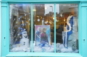 Monument Hair Salon, joint second in the Frozen window display competition. Photograph by John Kelly.