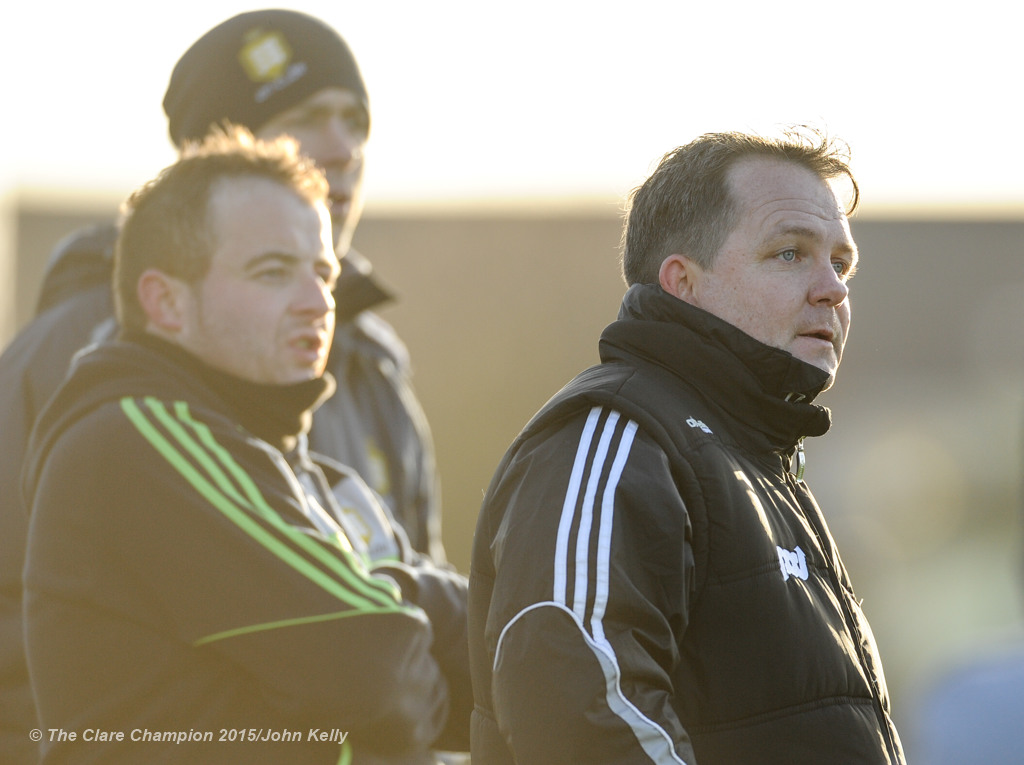 Clare manager Davy Fitzgerald on the sideline against Tipperary during their Waterford Crystal Cup game at Sixmilebridge. Photograph by John Kelly.