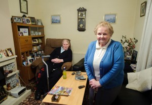 Judith and Peter O' Donoghue in their home at New Road,  Ennistymon. Photograph by John Kelly