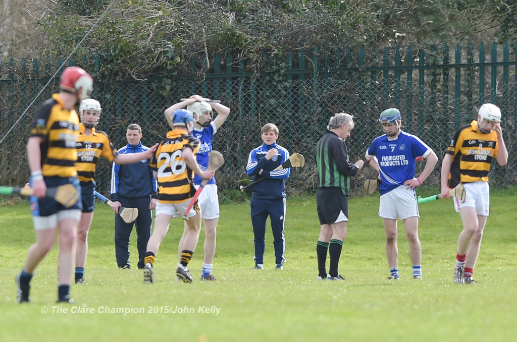 Cratloe's Podge Collins, former Clare senior hurler and now senior footballer watches the action from the end line during their U-21 semi final against Crusheen-Tubber at Clarecastle. Photograph by John Kelly.