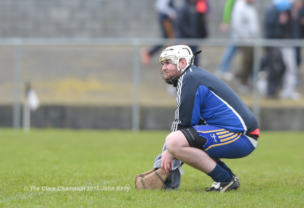 A disappointed David Kearney, goalie of Crusheen-Tubber following their U-21 semi final loss to Cratloe at Clarecastle. Photograph by John Kelly.