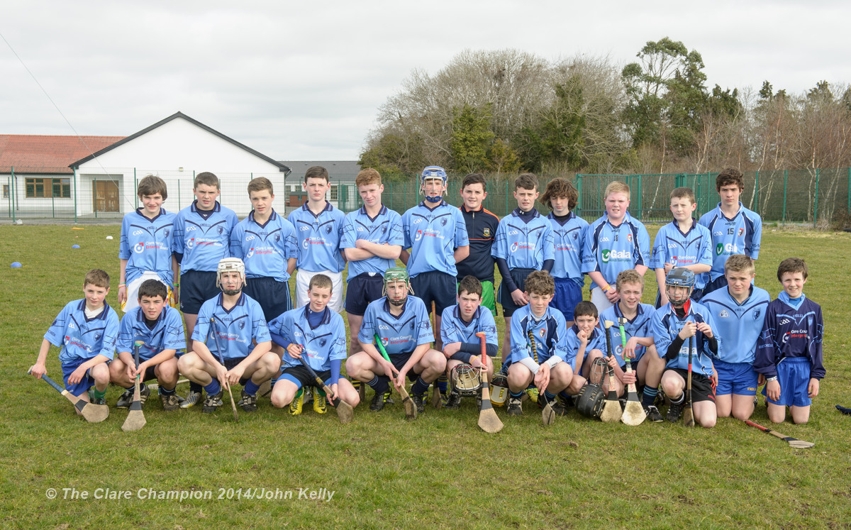 The Scariff Community College team who beat Ennistymon CBS in the Munster U-15 D final at Clarecastle. Photograph by John Kelly.