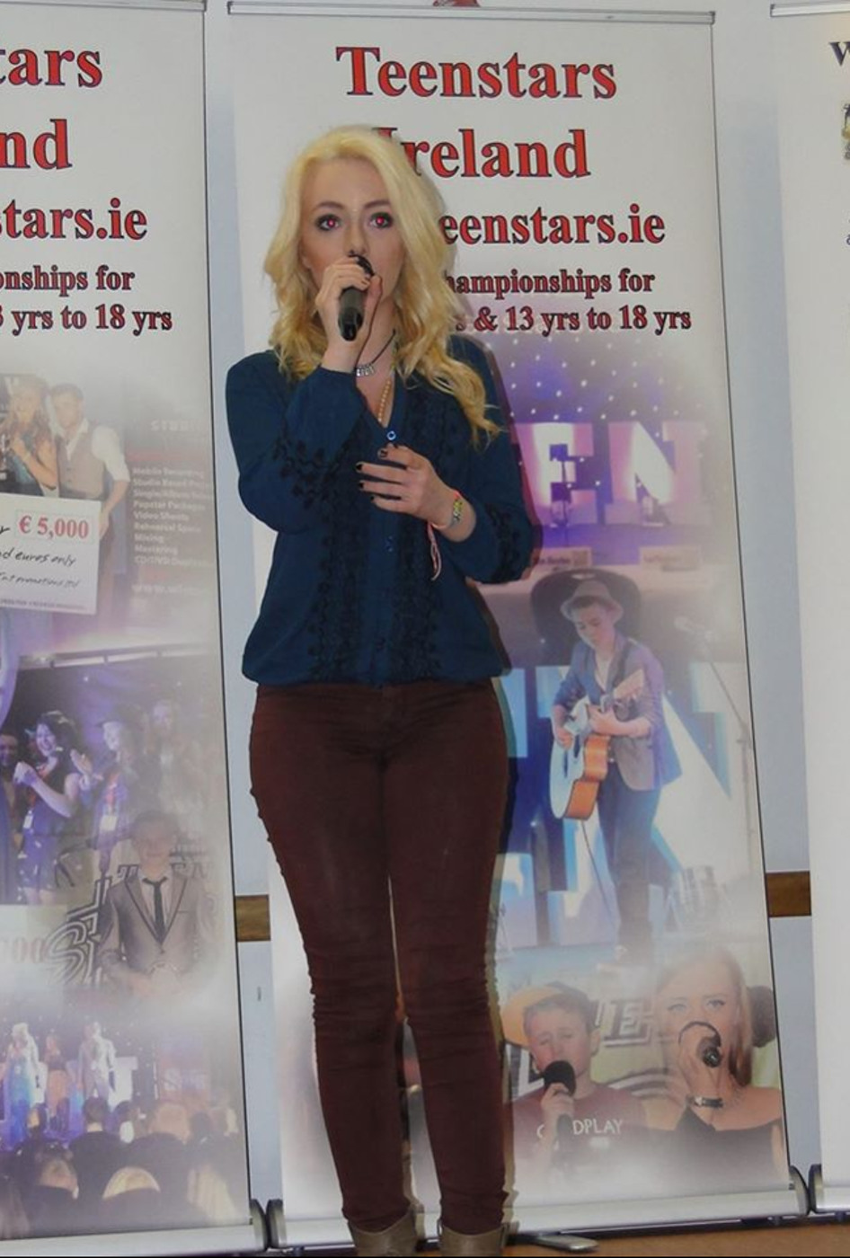 Alice Mc Grath, who is in the national final of Teenstars.