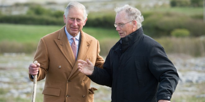 Prince Charles visits Nagle family farm in Carron