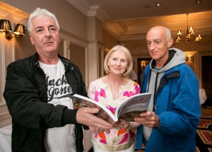 Ollie Byrnes, Mary Byrnes O'Donoghue and Davy Connellan at the book launch. Photograph  by Arthur Ellis