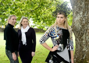 Launching Ennis Fashion Week, from left, milliner Sinead Madden; stylist Tess Purcell and Miss Clare, Elaine Galvin.  Photograph by John  Kelly