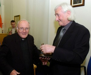 Tony with his late brother, Canon Frankie Mulvey, who took the photo of The Drifters.