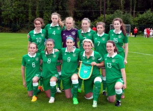 The Ireland womens U-19 team.