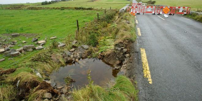 The road is reopened at Clonbony Bridge. Photograph by John Kelly